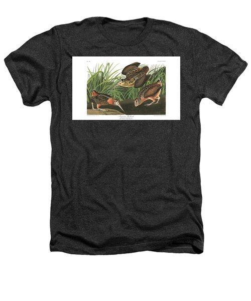American Woodcock Heathers T-Shirt by John Audubon