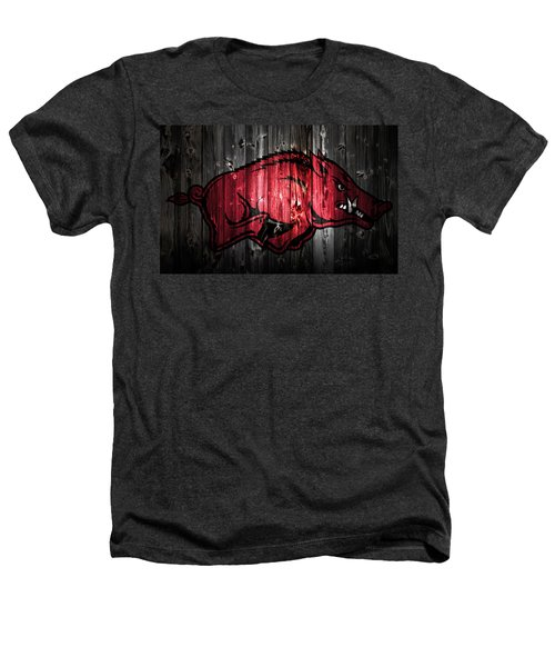 Arkansas Razorbacks 2a Heathers T-Shirt by Brian Reaves
