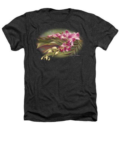 Dendrobium Orchids Heathers T-Shirt by Lucie Bilodeau