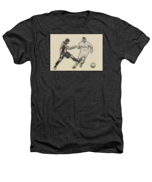 Athletic Club  Vs Real Madrid Heathers T-Shirt by Don Kuing