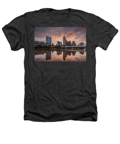 Austin Skyline Sunrise Reflection Heathers T-Shirt by Todd Aaron