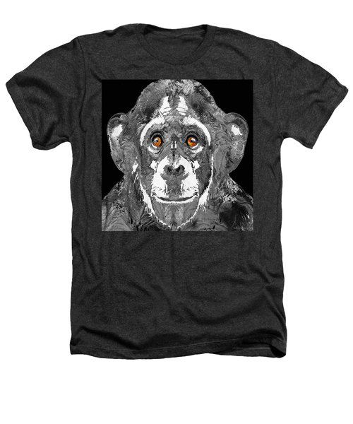 Black And White Art - Monkey Business 2 - By Sharon Cummings Heathers T-Shirt by Sharon Cummings