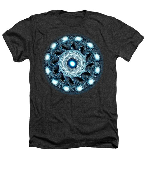 Blue Circle Heathers T-Shirt by Anastasiya Malakhova