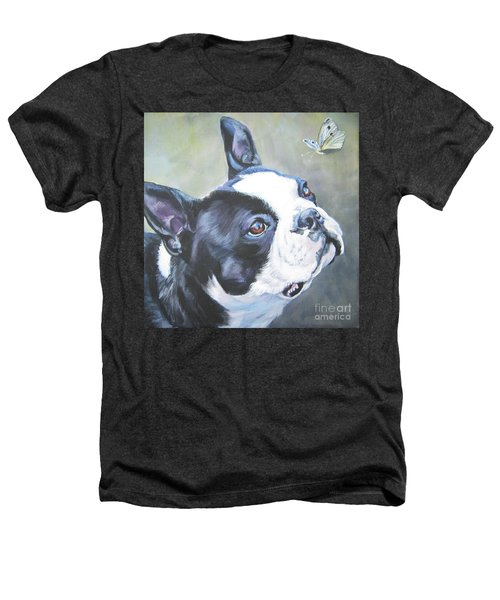 boston Terrier butterfly Heathers T-Shirt by Lee Ann Shepard