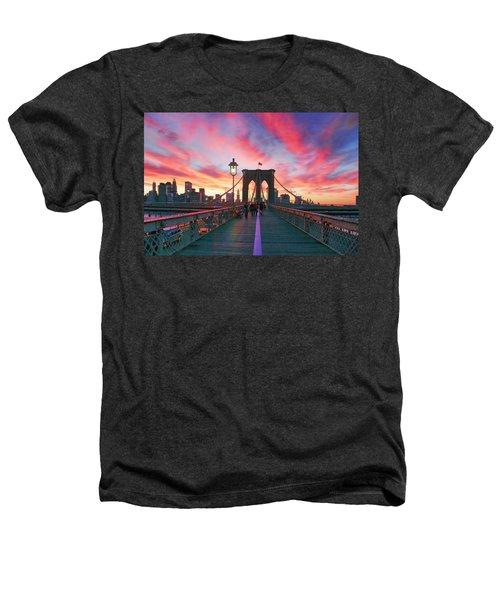 Brooklyn Sunset Heathers T-Shirt by Rick Berk