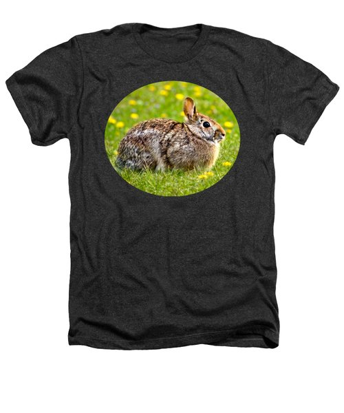 Brown Bunny In Green Grass Heathers T-Shirt by Christina Rollo