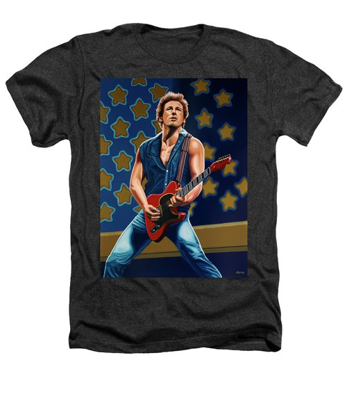 Bruce Springsteen The Boss Painting Heathers T-Shirt by Paul Meijering