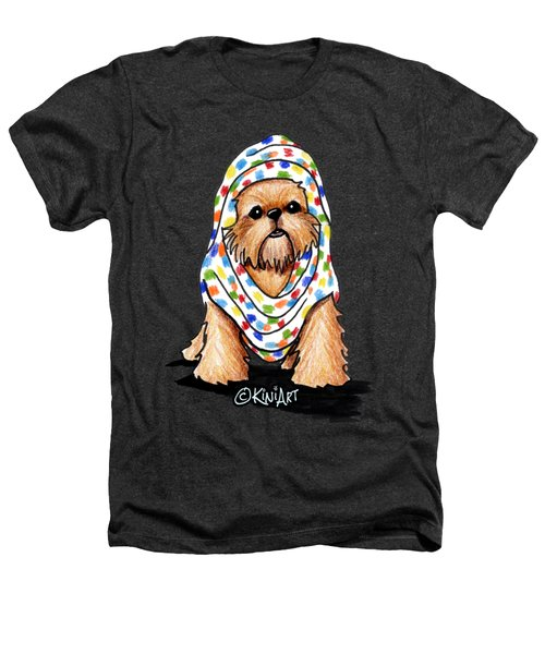 Brussels Griffon Beauty Heathers T-Shirt by Kim Niles