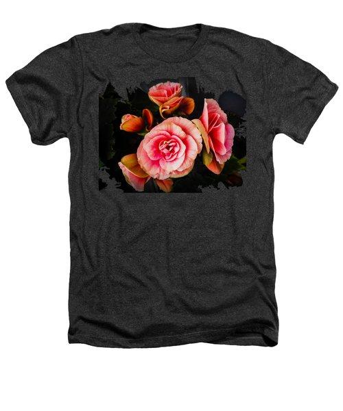 Bygone Begonias Heathers T-Shirt by Jennifer Kohler