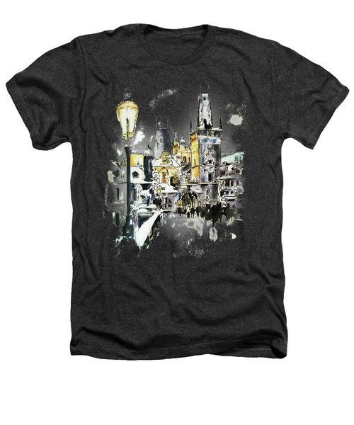 Charles Bridge In Winter Heathers T-Shirt by Melanie D