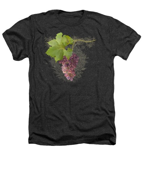 Chateau Pinot Noir Vineyards - Vintage Style Heathers T-Shirt by Audrey Jeanne Roberts