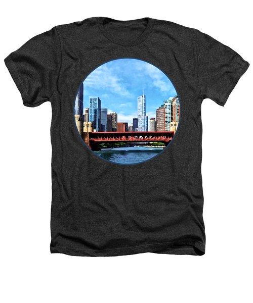 Chicago Il - Lake Shore Drive Bridge Heathers T-Shirt by Susan Savad