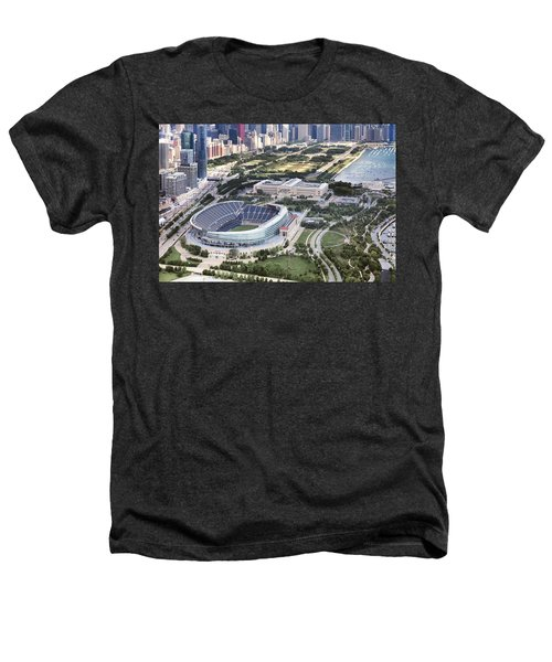 Chicago's Soldier Field Heathers T-Shirt by Adam Romanowicz
