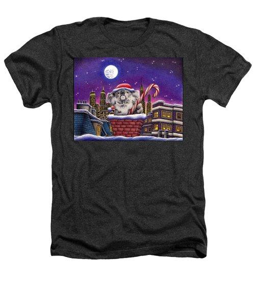 Christmas Koala In Chimney Heathers T-Shirt by Remrov