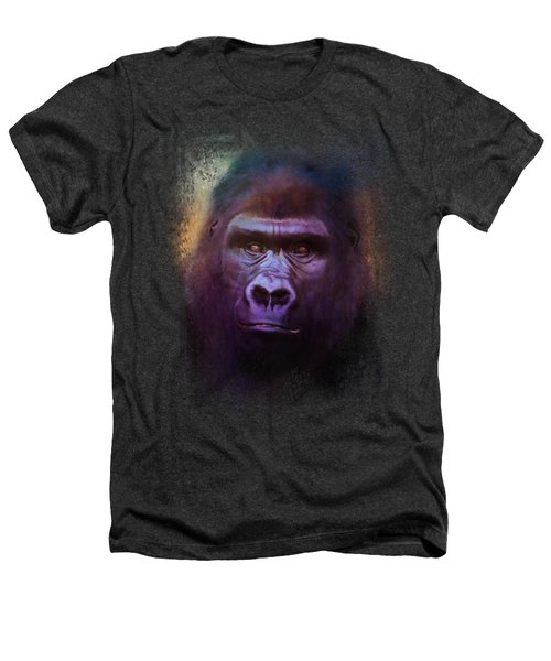 Colorful Expressions Gorilla Heathers T-Shirt by Jai Johnson