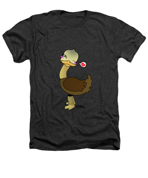 Cute Ostrich Heathers T-Shirt by Olluga Gifts