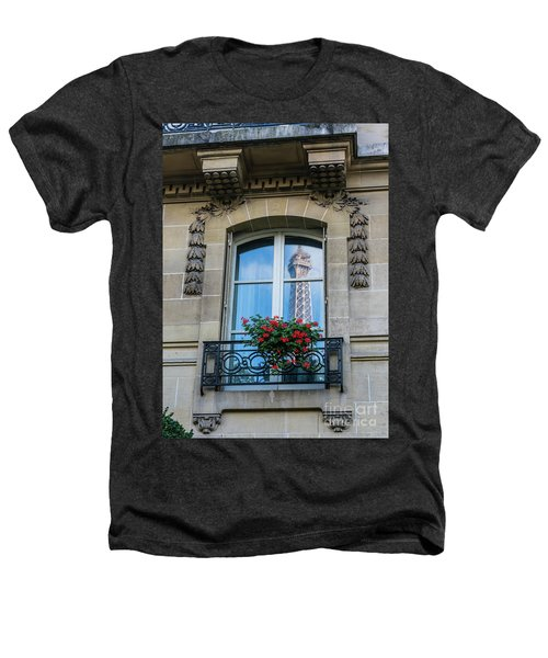 Eiffel Tower Paris Apartment Reflection Heathers T-Shirt by Mike Reid