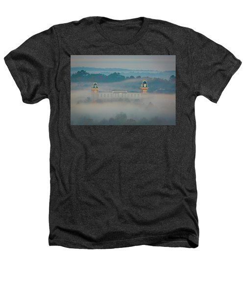 Fog At Old Main Heathers T-Shirt by Damon Shaw