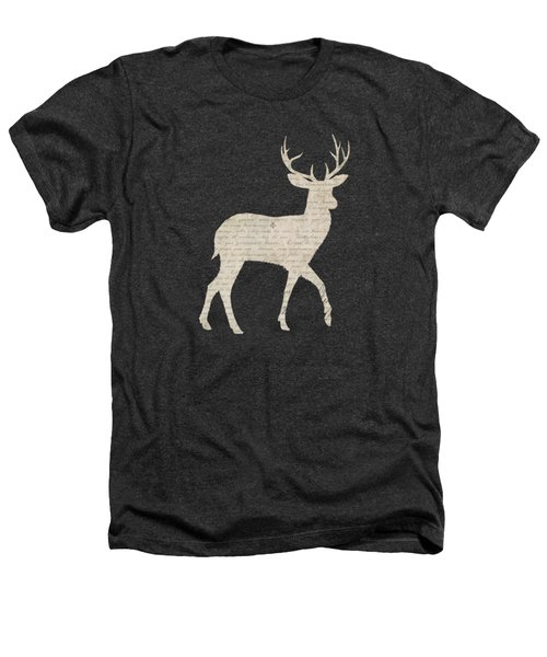 French Script Stag Heathers T-Shirt by Amanda  Lakey