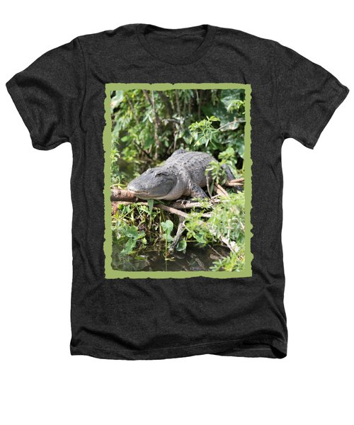 Gator In Green Heathers T-Shirt by Carol Groenen