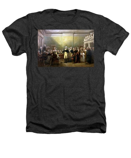 General Washington Resigning His Commission Heathers T-Shirt by War Is Hell Store