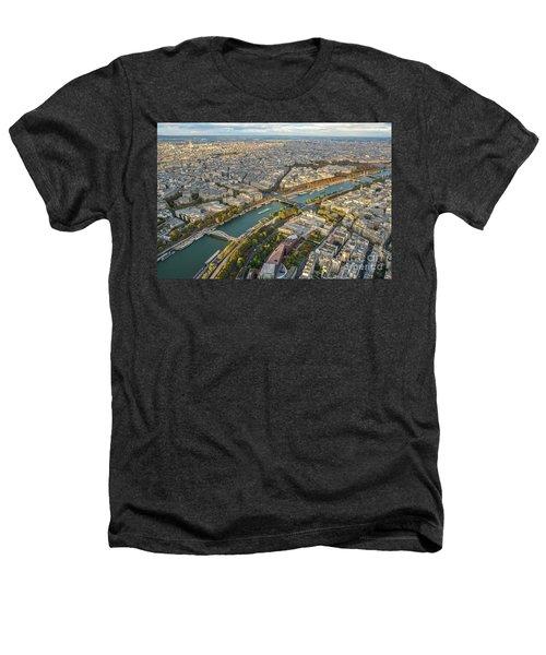 Golden Light Along The Seine Heathers T-Shirt by Mike Reid
