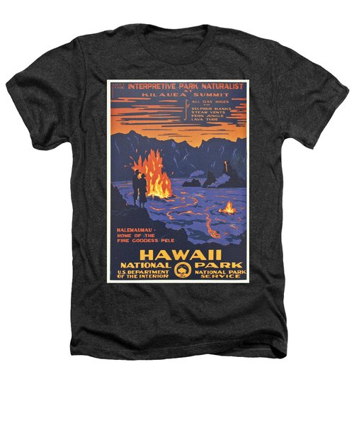 Hawaii Vintage Travel Poster Heathers T-Shirt by Georgia Fowler