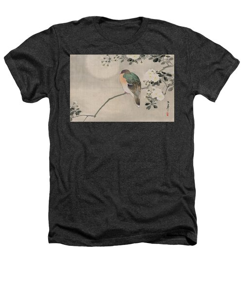 Japanese Silk Painting Of A Wood Pigeon Heathers T-Shirt by Japanese School