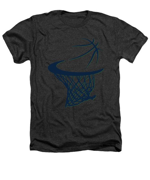 Jazz Basketball Hoop Heathers T-Shirt by Joe Hamilton