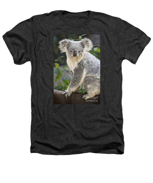 Koala Female Portrait Heathers T-Shirt by Jamie Pham