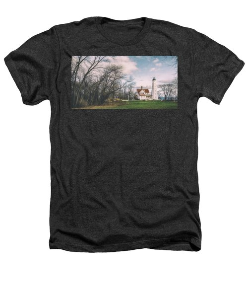 Late Afternoon At The Lighthouse Heathers T-Shirt by Scott Norris