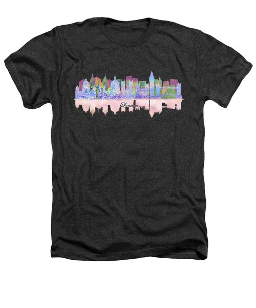 London England Skyline Heathers T-Shirt by John Groves