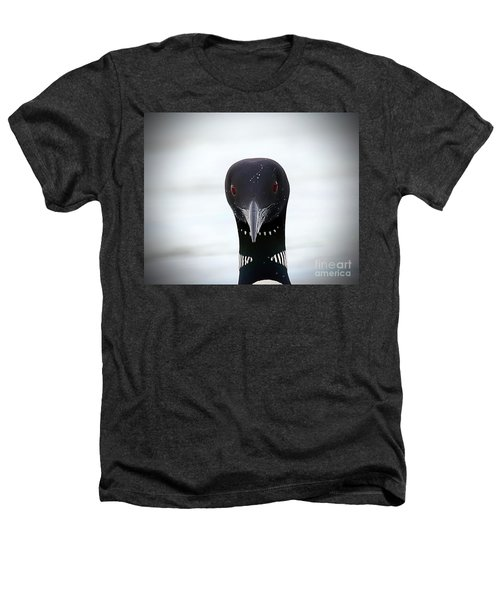 Loon Stare Heathers T-Shirt by Peter Gray