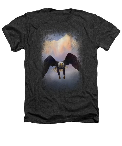 Mountain Flight Heathers T-Shirt by Jai Johnson
