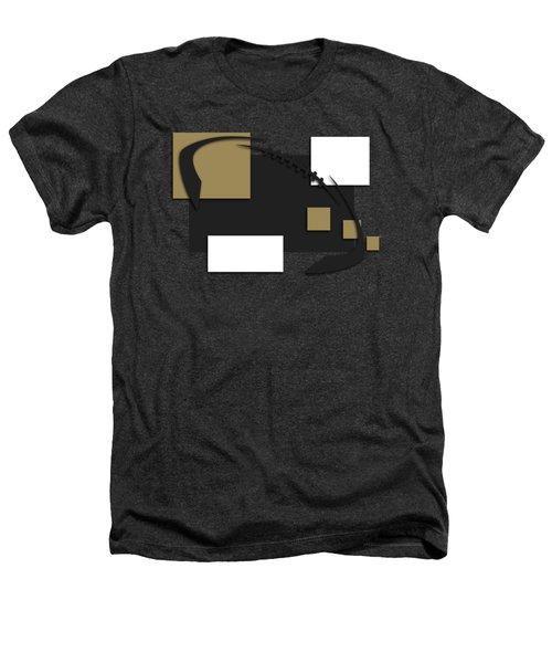 New Orleans Saints Abstract Shirt Heathers T-Shirt by Joe Hamilton