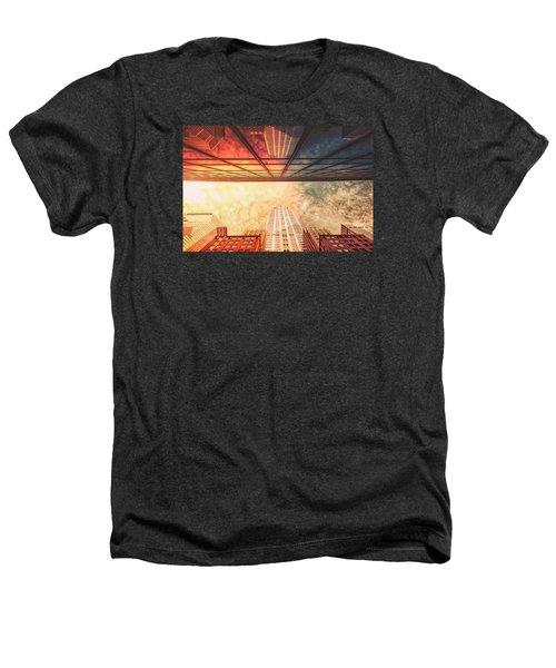 New York City - Chrysler Building Heathers T-Shirt by Vivienne Gucwa