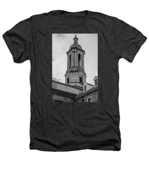 Old Main Tower Penn State Heathers T-Shirt by John McGraw