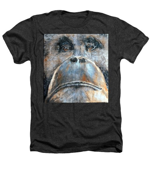 Orangutan Heathers T-Shirt by Maureen Murphy