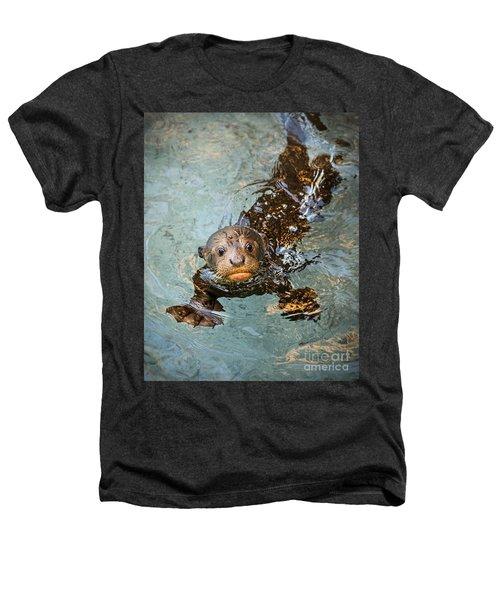 Otter Pup Heathers T-Shirt by Jamie Pham