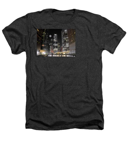 Panoramic Lakefront View In Chicago Heathers T-Shirt by Frozen in Time Fine Art Photography