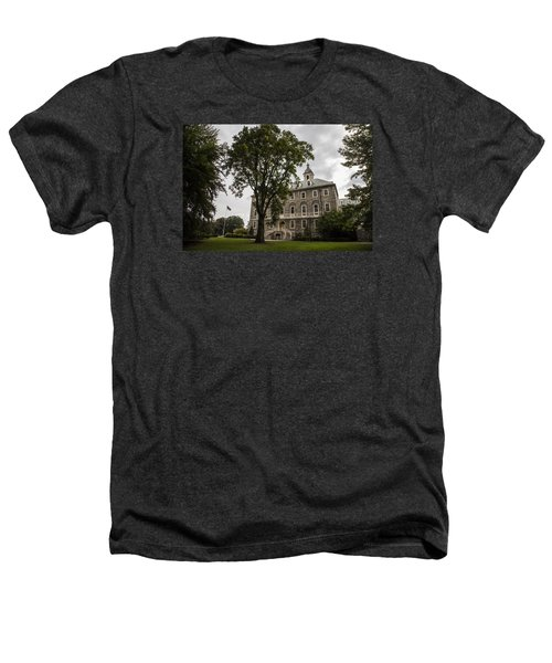 Penn State Old Main And Tree Heathers T-Shirt by John McGraw