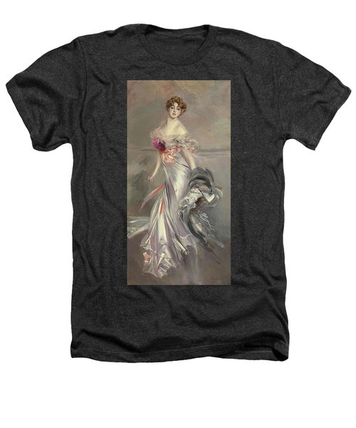 Portrait Of Marthe Regnier Heathers T-Shirt by Giovanni Boldini