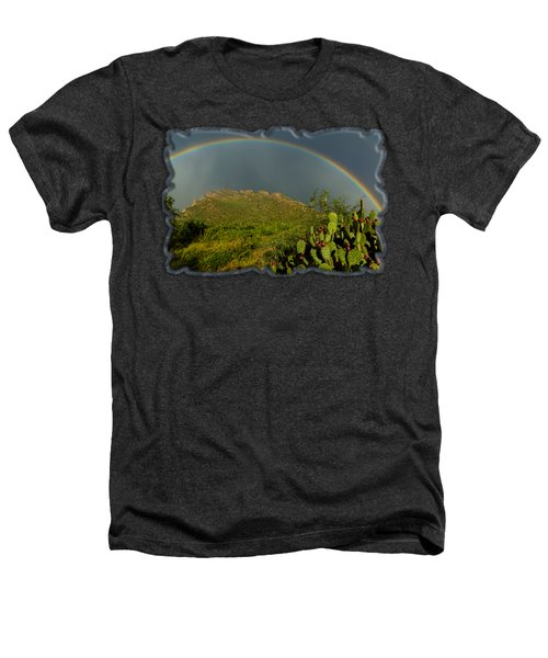 Pusch Ridge Rainbow H38 Heathers T-Shirt by Mark Myhaver