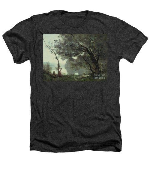 Recollections Of Mortefontaine Heathers T-Shirt by Jean Baptiste Corot