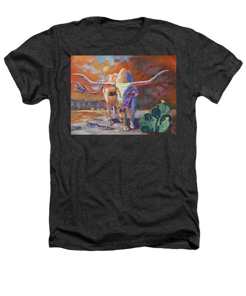 Red River Showdown Heathers T-Shirt by J P Childress