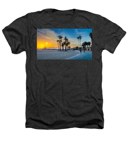 Santa Monica Sunset Heathers T-Shirt by Az Jackson