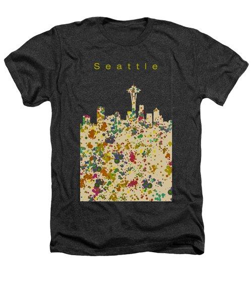 Seattle Skyline 1 Heathers T-Shirt by Alberto RuiZ