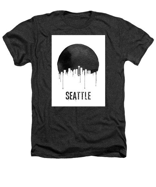 Seattle Skyline White Heathers T-Shirt by Naxart Studio