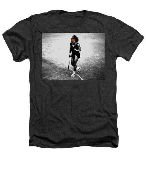 Serena Williams Match Point 3a Heathers T-Shirt by Brian Reaves