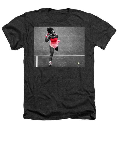 Serena Williams Strong Return Heathers T-Shirt by Brian Reaves
